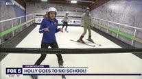 Holly goes to ski school!