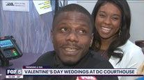 Couples tie the knot on Valentine's Day