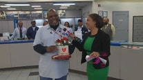 Postal worker who saved missing boy surprised with Valentine's Day gifts