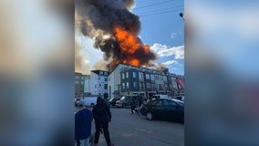 Massive Alexandria fire 'contained,' two taken to hospital
