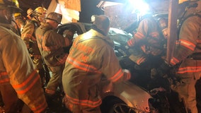 One dead after fiery Germantown crash sends Toyota into home's carport