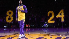 LeBron James pays tribute to Kobe Bryant as Lakers return home: 'Live on, brother'