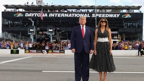 Trump, Melania rev up Daytona 500 with historic lap in presidential limo, 'The Beast'