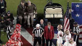Four centenarian World War II veterans honored at Super Bowl LIV