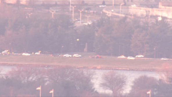 Fiery crash causes delays along George Washington Parkway