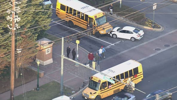 No serious injuries following Montgomery County school bus crash in Rockville area