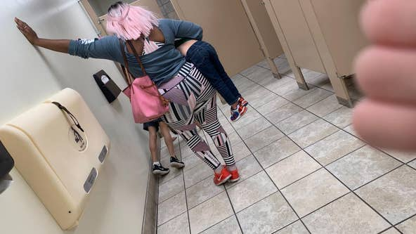 Mom praised for parenting skills after making son do pushups in public bathroom in viral lesson on respect