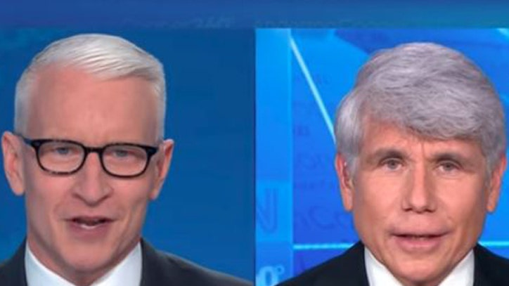 Blagojevich, CNN`s Cooper get profane in on-air...