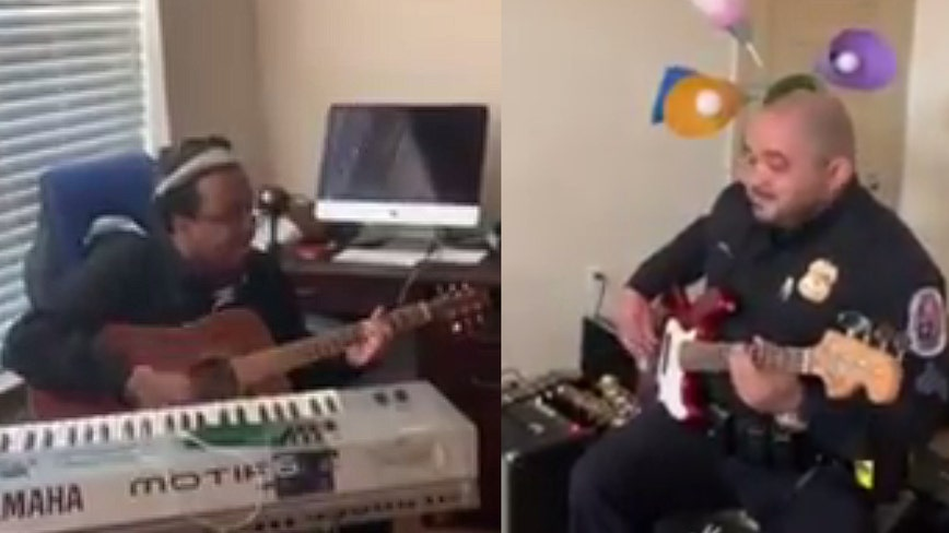 Prince George's County officer helps calm autistic man by joining him in jam session