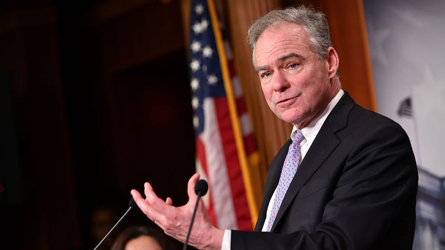 Sen. Tim Kaine backs Joe Biden in Democratic presidential primary