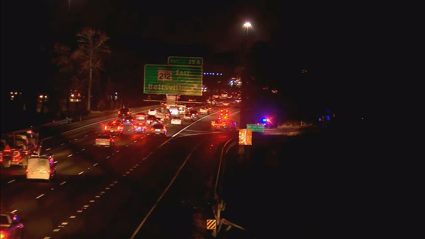 Man dead in early morning crash on I-95 in Prince George's County