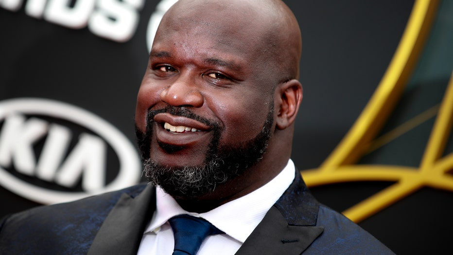 SANTA MONICA, CALIFORNIA - JUNE 24: Shaquille O'Neal attends the 2019 NBA Awards at Barker Hangar on June 24, 2019 in Santa Monica, California. (Photo by Rich Fury/Getty Images)