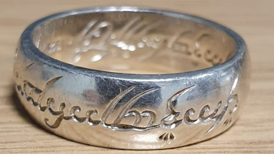 In a Facebook post on Jan. 29, 2020, North Yorkshire Police said the ring was recovered among other stolen property from a burglary. (Photo credit: North Yorkshire Police)