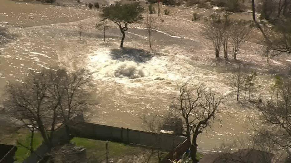 Severe flooding in East Houston