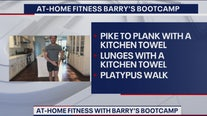 At-home fitness routine with Barry's