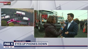 'Eyes Up, Phones Down' challenge help bring awareness to dangers of texting and driving