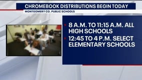 Montgomery County Public Schools distribute Chromebooks to students after closures extended due to coronavirus
