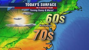 Dry, sunny and warm Friday afternoon with highs in the 70s