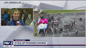 Teen driver safety initiative with 'Eyes Up, Phones Down' challenge