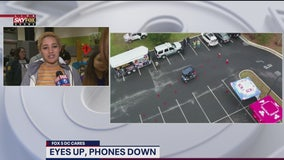 'Eyes Up, Phones Down' challenge raises road safety awareness