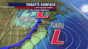 Friday morning and afternoon showers with highs in the 50s; snow showers possible later tonight