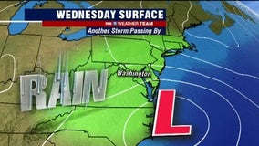 Rainy, chilly Wednesday with highs around 50 degrees