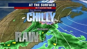 Chilly, rainy Monday with highs in the 40s