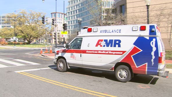 Ambulance eerily blares 'The Purge' sirens amid DC's empty streets