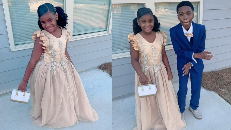 Christian, 11, took his little sister Skylar, 7, to her father-daughter school dance after her dad stood her up.