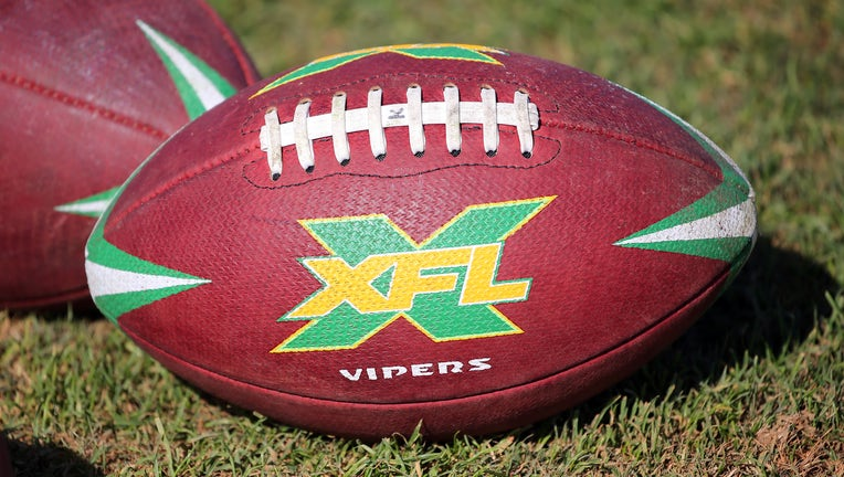 PLANT CITY, FL - DECEMBER 16: The official XFL game ball for the Tampa Bay Vipers during the XFL's Vipers Minicamp on December 16, 2019 at Plant City Stadium in Plant City,FL. (Photo by Cliff Welch/Icon Sportswire via Getty Images)