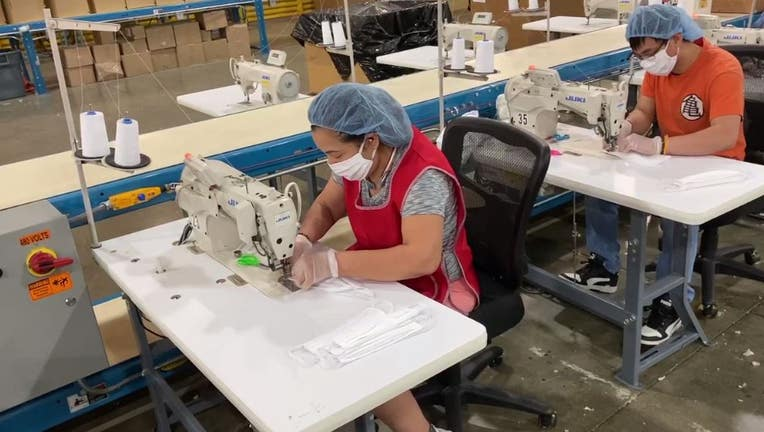 MyPillow face mask production