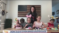 How to DIY oven baked Easter eggs