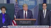 Trump provides coronavirus update