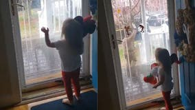 Every week little girl looks forward to saying 'hi' to UPS delivery man during lockdown