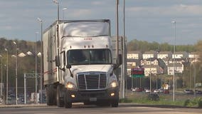 Truck drivers working hard to deliver items around the clock during COVID-19 pandemic