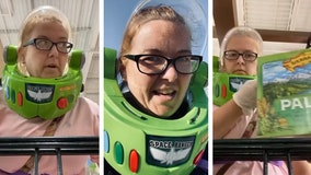 North Carolina woman wears 'Buzz Lightyear' helmet to grocery store