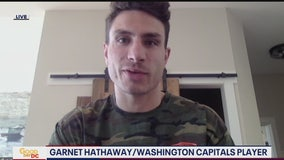 Caps player Garnet Hathaway providing meals to Arlington County first responders