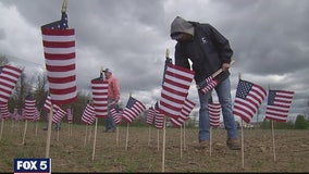 Virginia man honors Memorial Day with countryside display