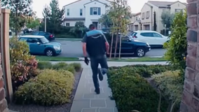 Ring camera shows Amazon driver playing hopscotch after making delivery