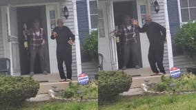 Woman drives by to check on elderly parents, finds them 'dancing' on front steps: 'They needed to party'