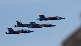 WATCH: Blue Angels, Thunderbirds fly over DC to thank healthcare workers