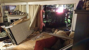 Family displaced after vehicle smashes into Montgomery County home, flees the scene, police say