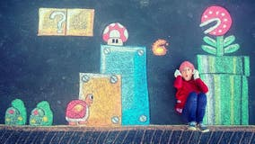 Mom creates magical sidewalk chalk murals to entertain daughters during lockdown