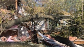 Strong winds bring down tree on Fairfax County home while family inside