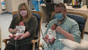 Mom sick with COVID-19 drives self to hospital to deliver twins, meets them in NICU weeks later