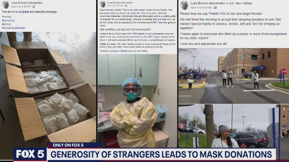 Woman turns to Facebook to get mask for sister who is nurse, gets dozens donated