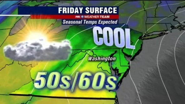 Dry, mild and breezy Friday with highs in the 60s