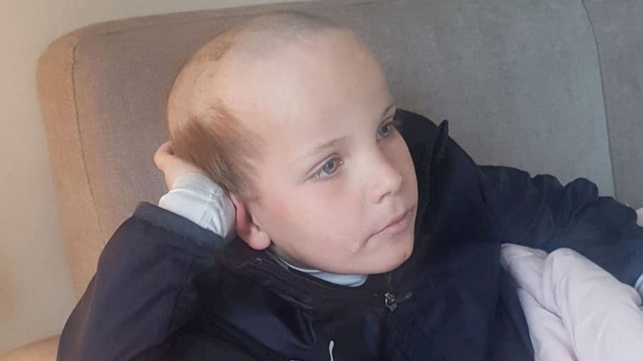 """""""I'd left my clippers on charge upstairs and the boys obviously found them,"""" Kevin Moore told South West News Service. """"They both came down and they were laughing so much. I looked over and saw this massive bald patch on top of George's head."""""""