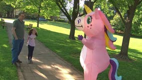 Pink unicorn brings cheer to Montgomery County