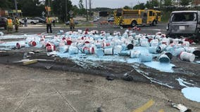 Route 1 in Woodbridge now reopened after 10-vehicle crash, paint spill